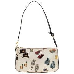 Louis Vuitton White/Black Monogram Vernis Stickers Accessories Pochette Bag
