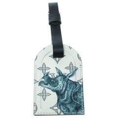 Louis Vuitton White/Blue Monogram Savane Leather Chapman Brothers Luggage Tag