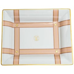 Louis Vuitton White Ceramic Marcel MM Valet Tray