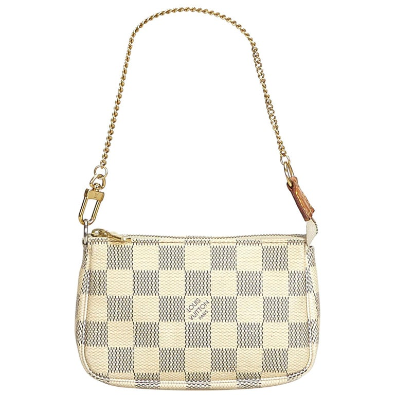 e27d94c68e Louis Vuitton White Damier Azur Mini Pochette Accessoires France