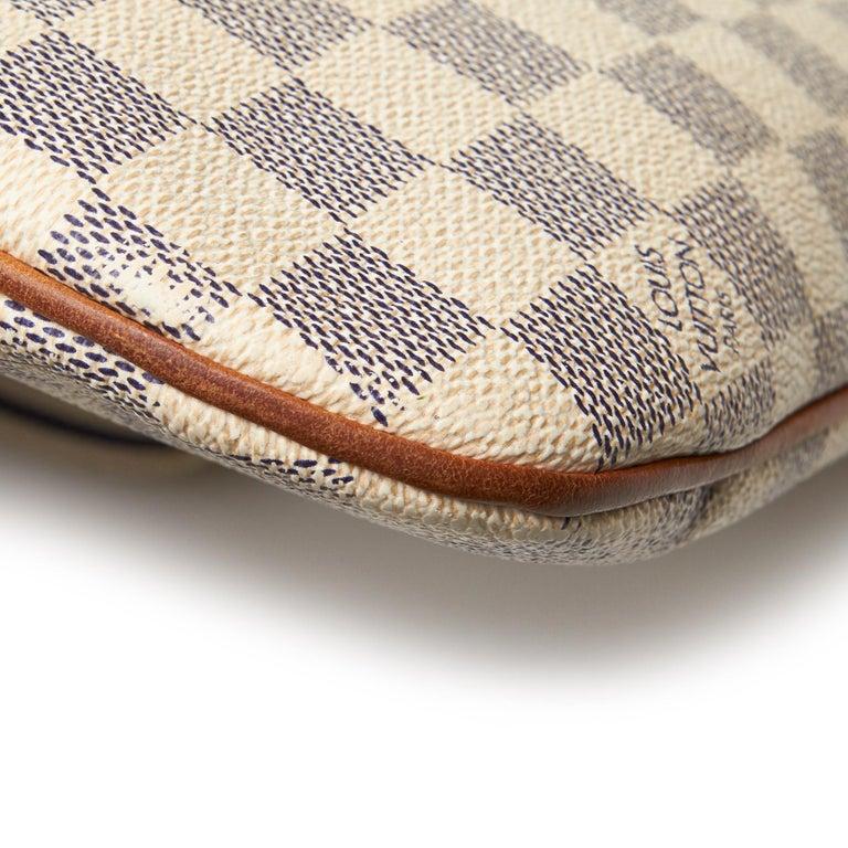 Louis Vuitton White Damier Azur Pochette Bosphore For Sale 7
