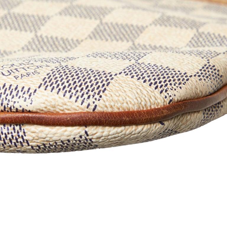 Louis Vuitton White Damier Azur Pochette Bosphore For Sale 8