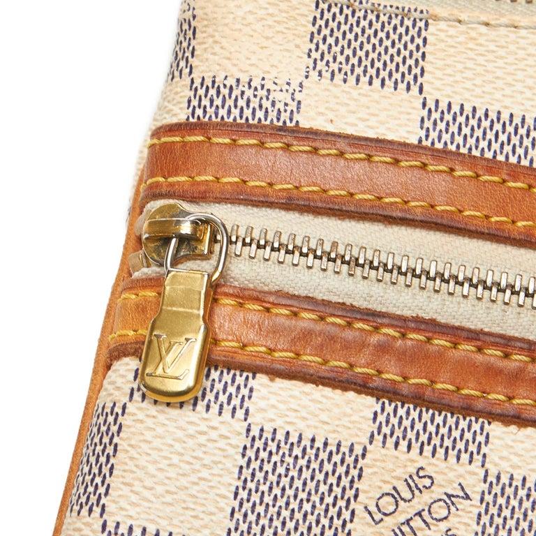 Louis Vuitton White Damier Azur Pochette Bosphore For Sale 9