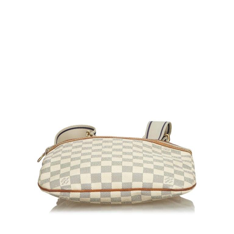 Women's Louis Vuitton White Damier Azur Pochette Bosphore For Sale