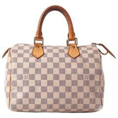 Louis Vuitton White Damier Azur Speedy 25