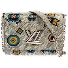 Louis Vuitton White Epi Leather Azteque Twist MM Bag
