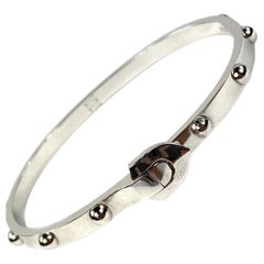 Louis Vuitton White Gold Bangle Bracelet