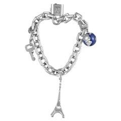 Louis Vuitton White Gold Charm Bracelet