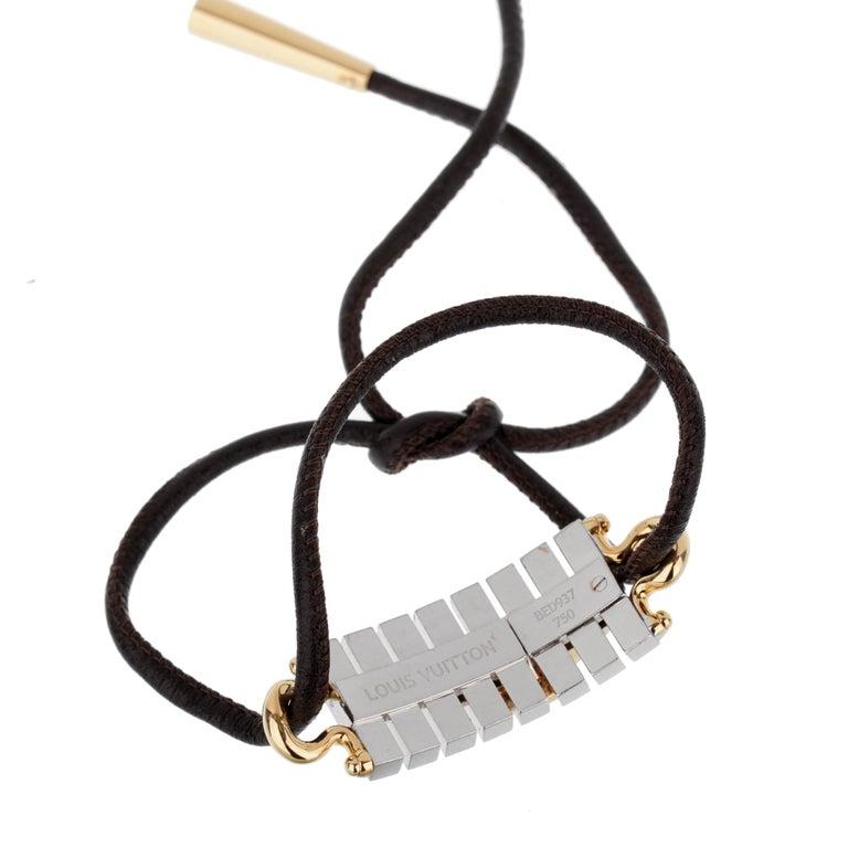 Women's or Men's Louis Vuitton White Gold Diamond Bracelet / Necklace For Sale