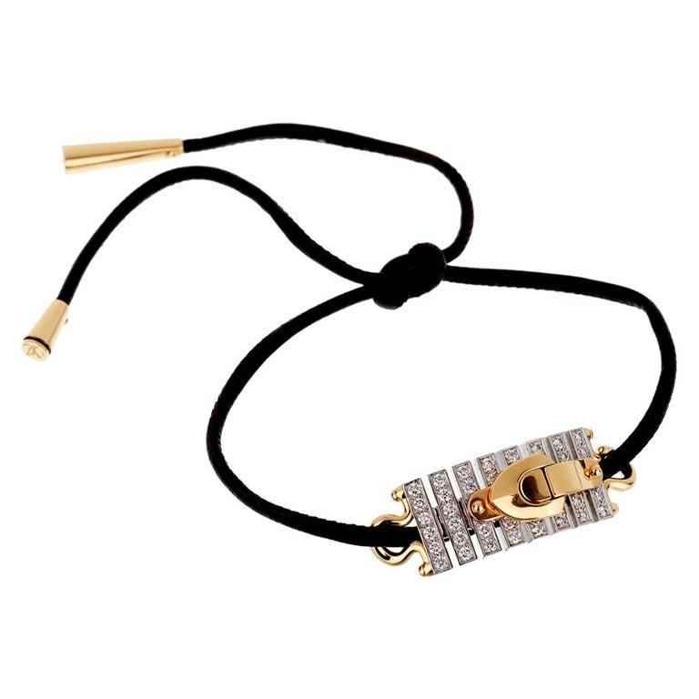 Louis Vuitton White Gold Diamond Bracelet / Necklace For Sale