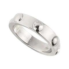 Louis Vuitton White Gold Emprise Band Ring