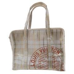 Louis Vuitton white gold leather Shoulder Handle bag