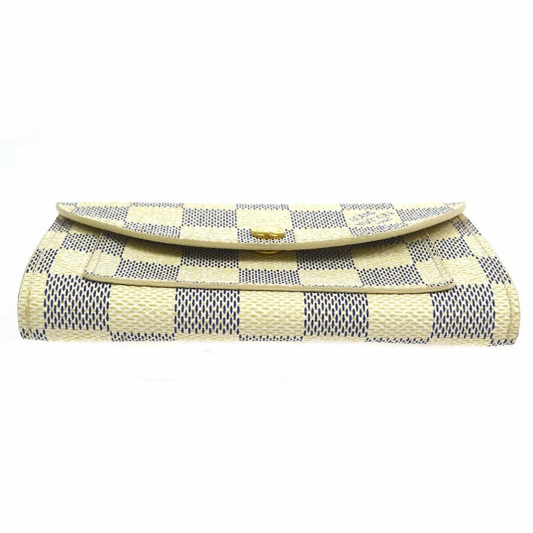 Louis Vuitton White Gray Men's Women's Pouch Bum Fanny Pack Waist Belt Bag  Belt size listed 95/38 Monogram canvas Gold tone hardware Buckle closure Date code present Made in Spain Adjustable belt length 34.5-38.5