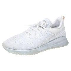 Louis Vuitton White Knit V.N.R Sneakers Size 43