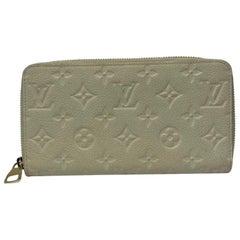 Louis Vuitton White Leather Empreinte Wallet