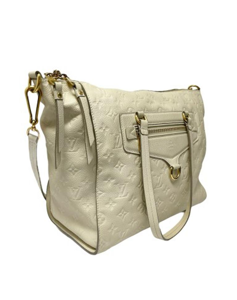Louis Vuitton White Leather Ombre Lumineuse Shoulder Bag In Excellent Condition For Sale In Torre Del Greco, IT