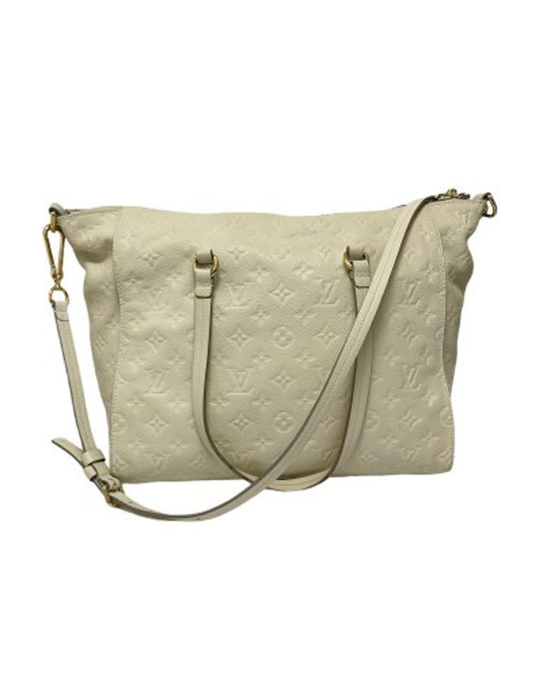 Women's Louis Vuitton White Leather Ombre Lumineuse Shoulder Bag For Sale