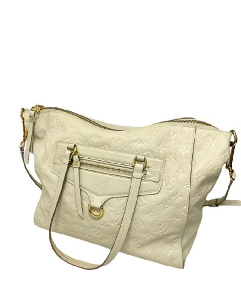 Louis Vuitton White Leather Ombre Lumineuse Shoulder Bag For Sale 1
