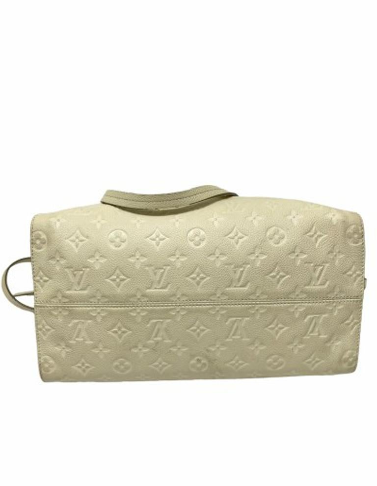 Louis Vuitton White Leather Ombre Lumineuse Shoulder Bag For Sale 2