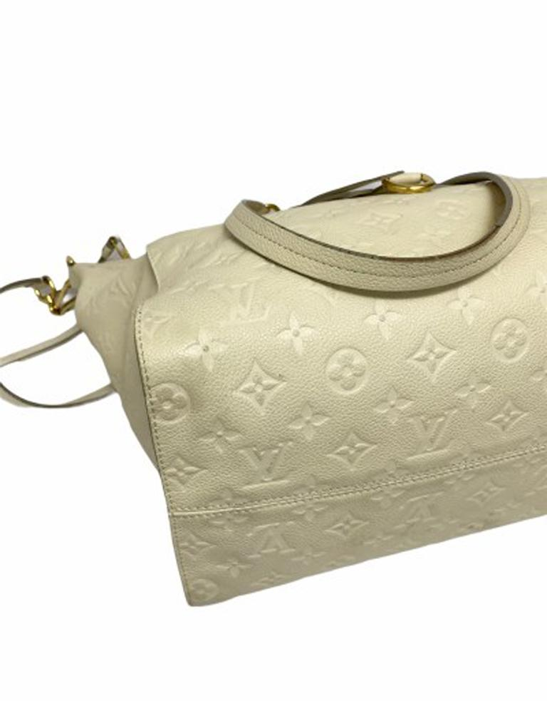 Louis Vuitton White Leather Ombre Lumineuse Shoulder Bag For Sale 3