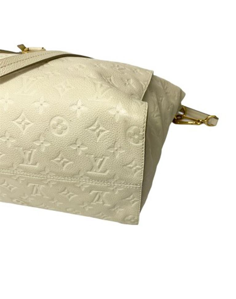 Louis Vuitton White Leather Ombre Lumineuse Shoulder Bag For Sale 4