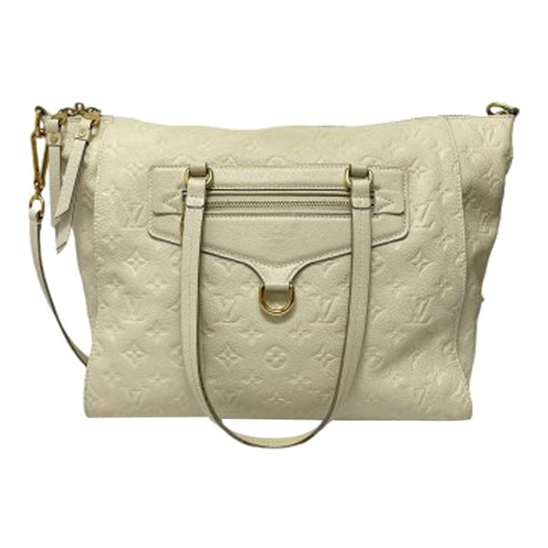 Louis Vuitton White Leather Ombre Lumineuse Shoulder Bag For Sale