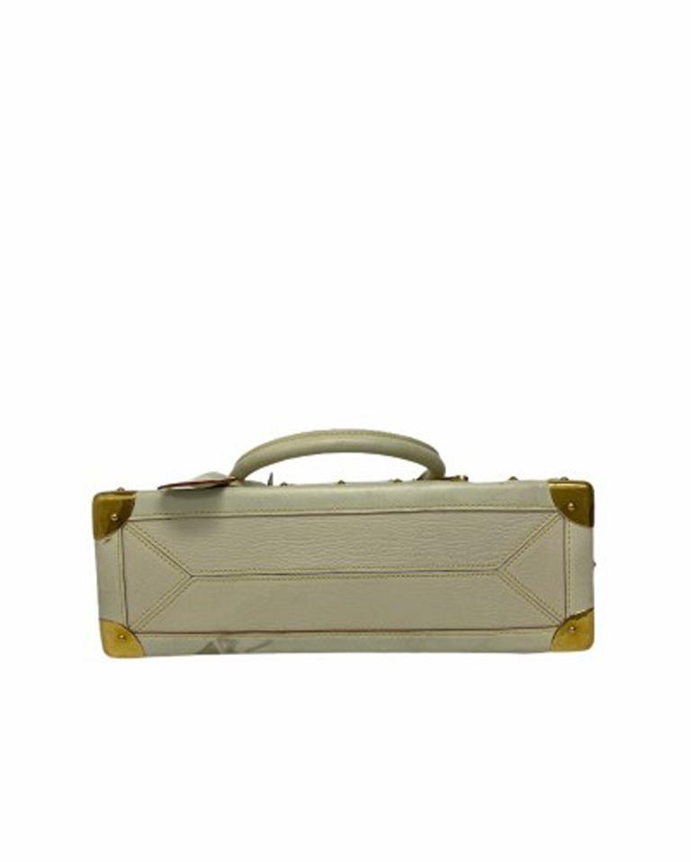 Women's Louis Vuitton White Leather Suhali le Fabuleaux Bag For Sale