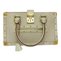 Louis Vuitton White Leather Suhali le Fabuleaux Bag