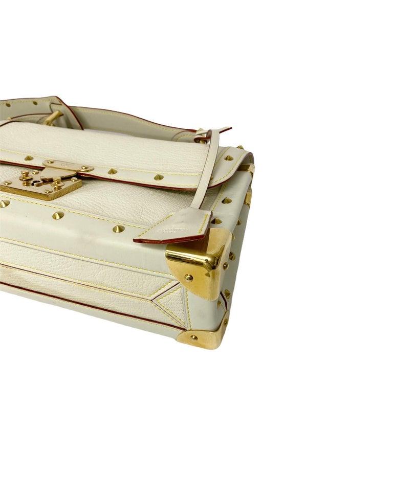 Women's Louis Vuitton White Leather Suhali Le Talentueux Bag For Sale