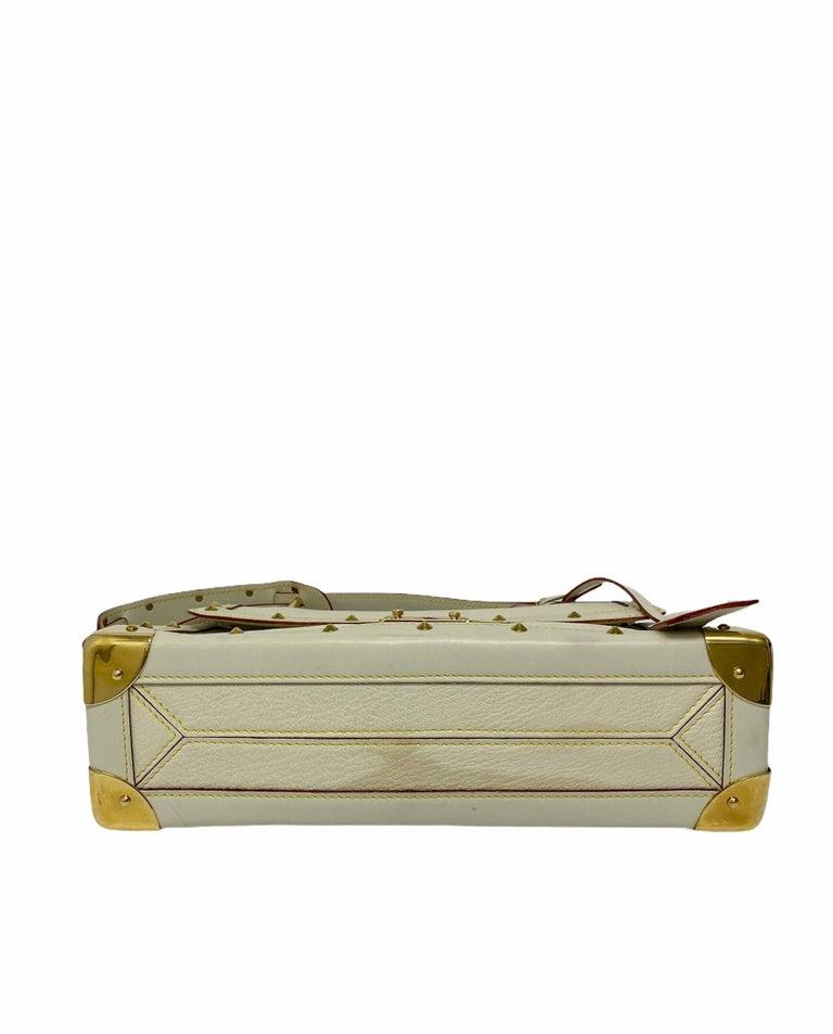 Louis Vuitton White Leather Suhali Le Talentueux Bag For Sale 1