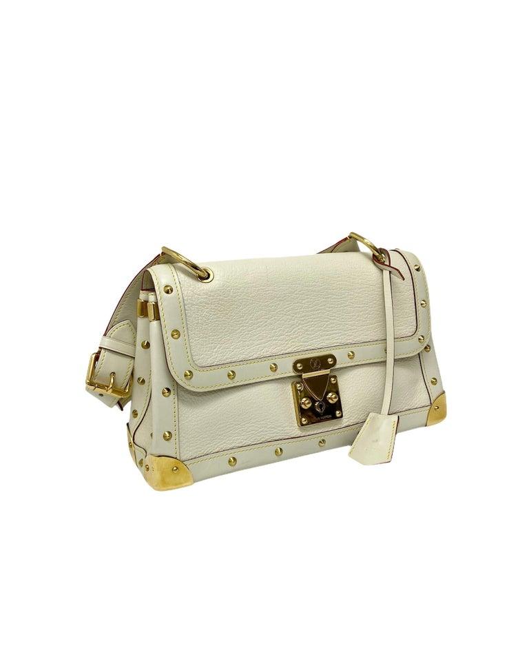 Louis Vuitton White Leather Suhali Le Talentueux Bag For Sale 2