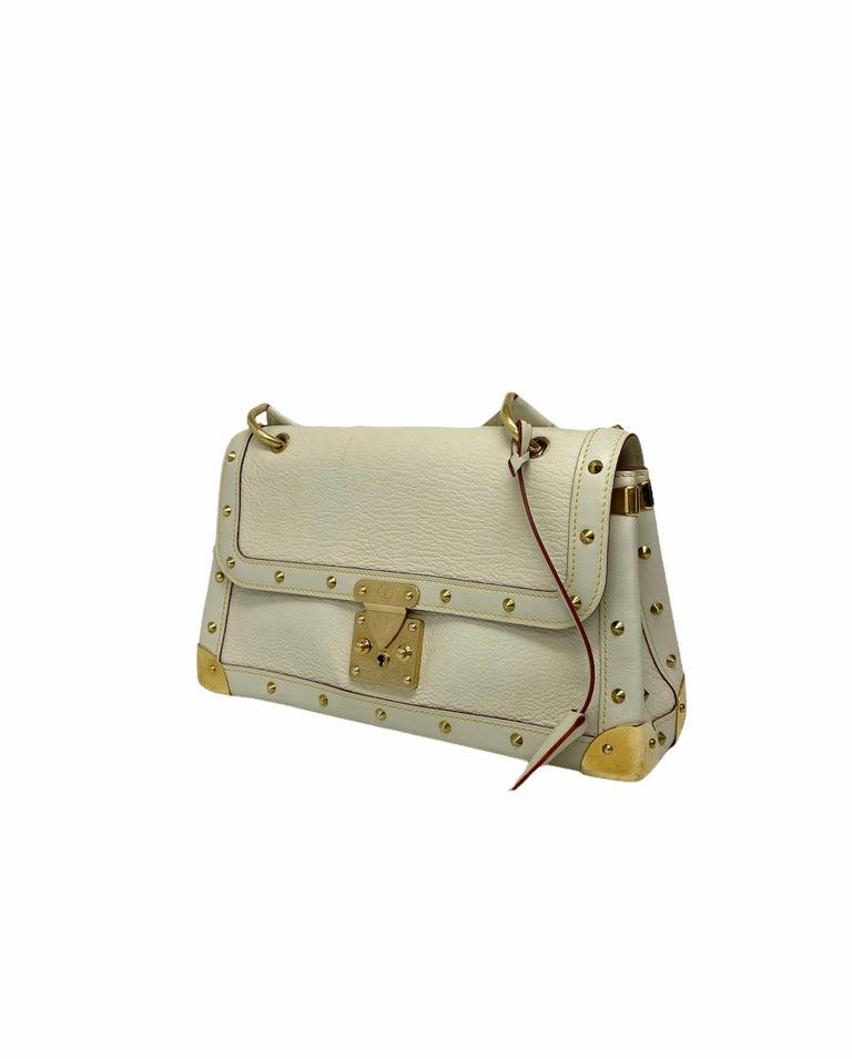 Louis Vuitton White Leather Suhali Le Talentueux Bag For Sale 3