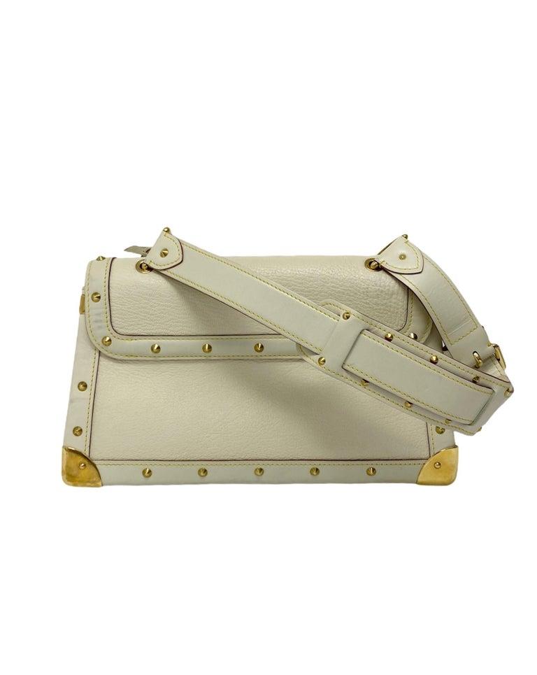 Louis Vuitton White Leather Suhali Le Talentueux Bag For Sale 4