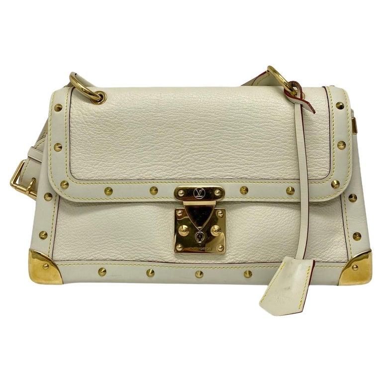 Louis Vuitton White Leather Suhali Le Talentueux Bag For Sale