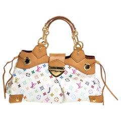 Louis Vuitton White Monogram Multicolore Canvas Ursula Bag