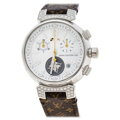 Louis Vuitton White Mother of Pearl Stainless Steel Women Wristwatch 34 mm