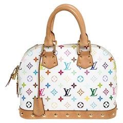 Louis Vuitton White Multicolor Monogram Alma PM Bag