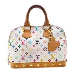 Louis Vuitton White Multicolor Monogram Canvas Alma PM