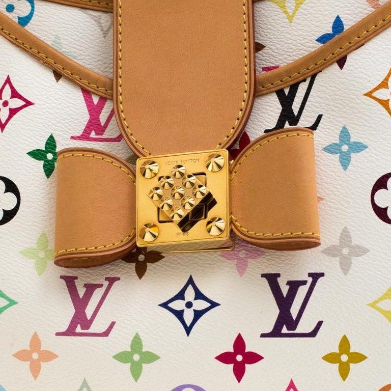 Louis Vuitton White Multicolor Monogram Canvas Annie GM Bag For Sale 6