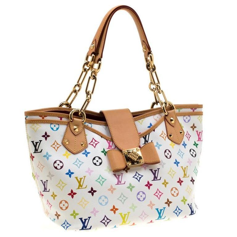 Women's Louis Vuitton White Multicolor Monogram Canvas Annie GM Bag For Sale