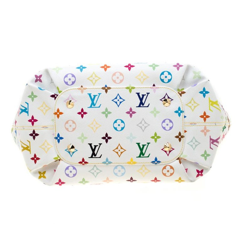 Louis Vuitton White Multicolor Monogram Canvas Annie GM Bag For Sale 1