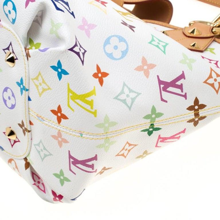Louis Vuitton White Multicolor Monogram Canvas Annie GM Bag For Sale 4