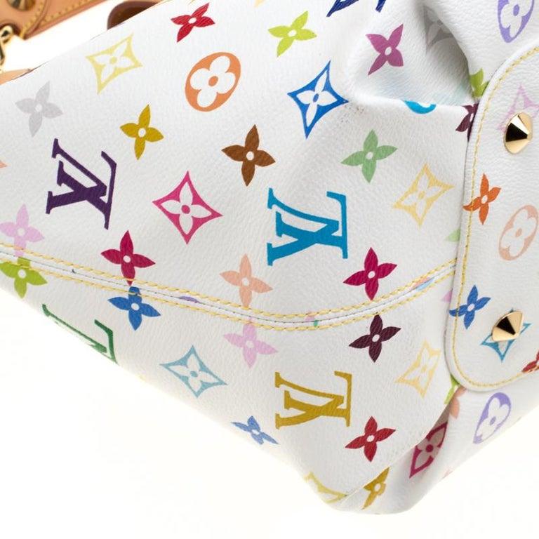 Louis Vuitton White Multicolor Monogram Canvas Annie GM Bag For Sale 5