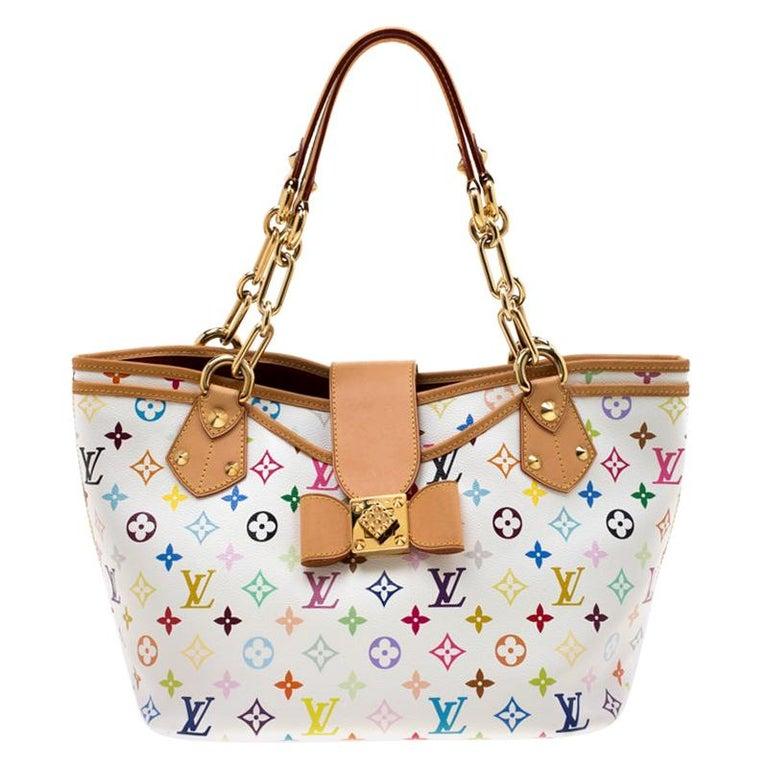 Louis Vuitton White Multicolor Monogram Canvas Annie GM Bag For Sale