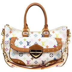 Louis Vuitton White Multicolor Monogram Canvas Rita Bag