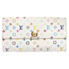 Louis Vuitton White Multicolor Monogram Sarah Wallet