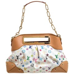 Louis Vuitton White Multicolore Monogram Canvas Judy GM Bag