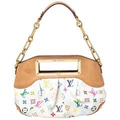 Louis Vuitton White Multicolore Monogram Canvas Judy PM Bag
