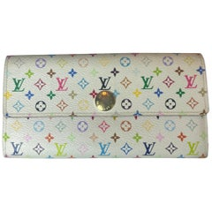 Louis Vuitton White Multicolore Monogram Sarah Wallet