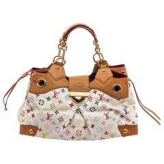 Louis Vuitton White Multicolore Monogram Ursula Bag
